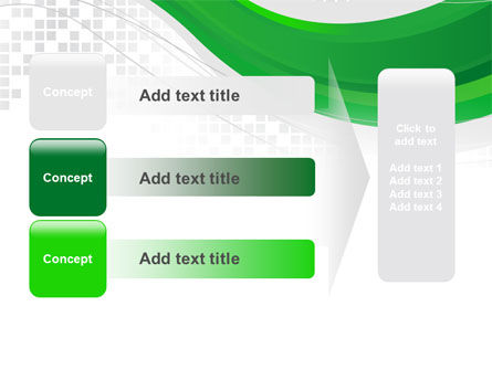 Green Abstract Wave PowerPoint Template Slide 12