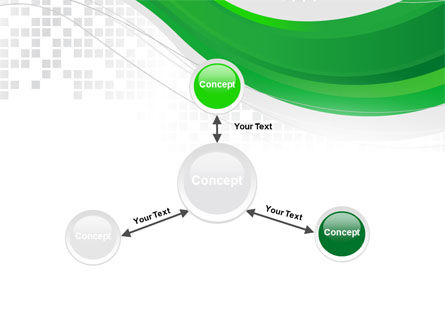 Green Abstract Wave PowerPoint Template Slide 14