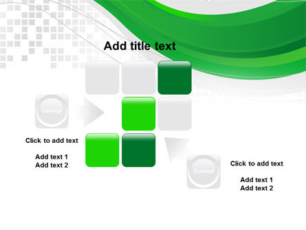 Green Abstract Wave PowerPoint Template Slide 16