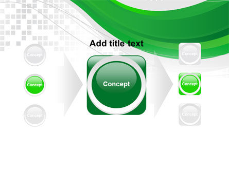 Green Abstract Wave PowerPoint Template Slide 17