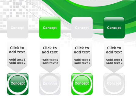 Green Abstract Wave PowerPoint Template Slide 18
