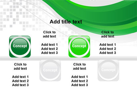 Green Abstract Wave PowerPoint Template Slide 19