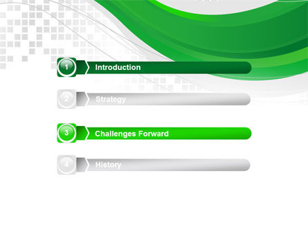 Green Abstract Wave PowerPoint Template, Slide 3, 08603, Abstract/Textures — PoweredTemplate.com
