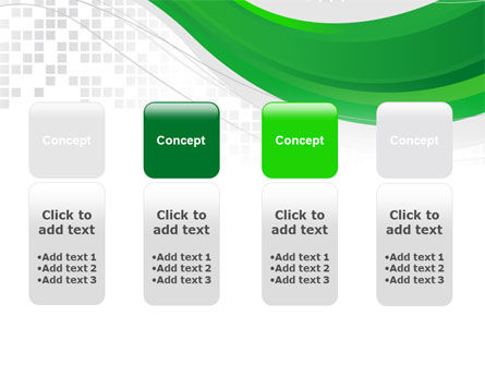 Green Abstract Wave PowerPoint Template Slide 5