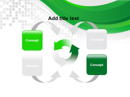 Green Abstract Wave PowerPoint Template Slide 6
