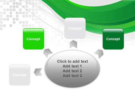 Green Abstract Wave PowerPoint Template Slide 7