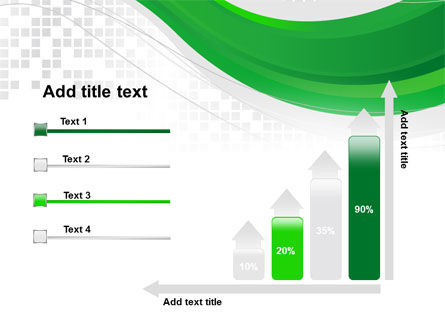 Green Abstract Wave PowerPoint Template Slide 8
