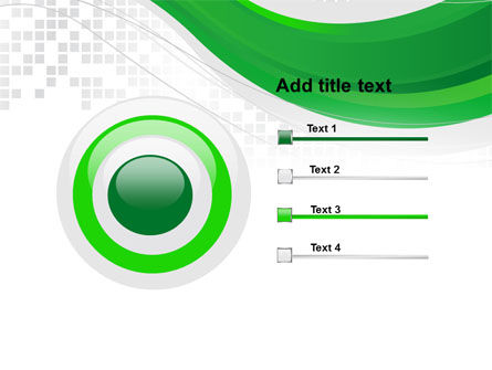 Green Abstract Wave PowerPoint Template Slide 9