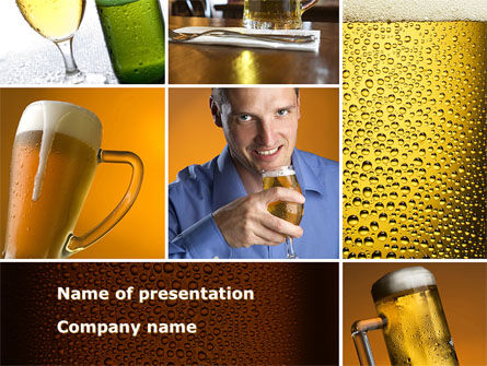 Beer Collage PowerPoint Template