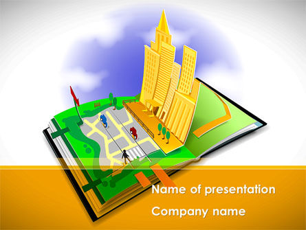 Construction: City Structure Free PowerPoint Template #08609