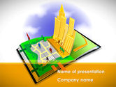 Construction: Plantilla de PowerPoint gratis - estructura de la ciudad #08609