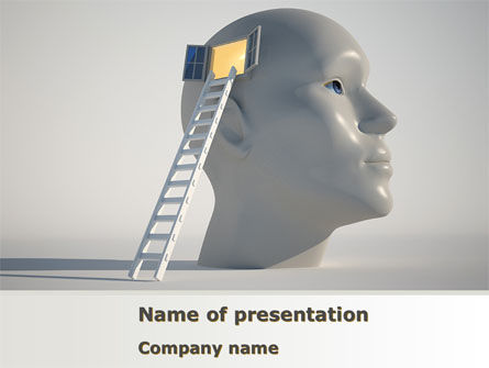 Consulting: Window To Brain PowerPoint Template #08610