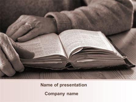 Religious/Spiritual: Bible Study PowerPoint Template #08611