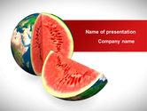 Global: Sweet Watermelon PowerPoint Template #08612