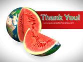Sweet Watermelon PowerPoint Template#20