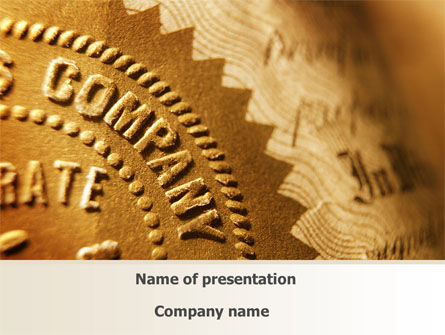 Embossed Seal PowerPoint Template