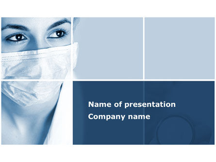 Medical: Medical Mask PowerPoint Template #08619
