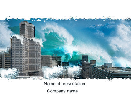 Nature & Environment: Japan Earth Quake PowerPoint Template #08622