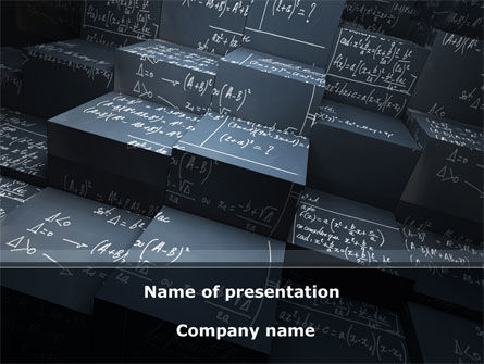 Technology and Science: Complex Calculations PowerPoint Template #08624