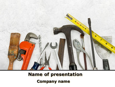 Utilities/Industrial: Repairing Tools PowerPoint Template #08626