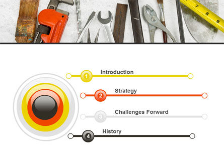 Repairing Tools PowerPoint Template, Slide 3, 08626, Utilities/Industrial — PoweredTemplate.com