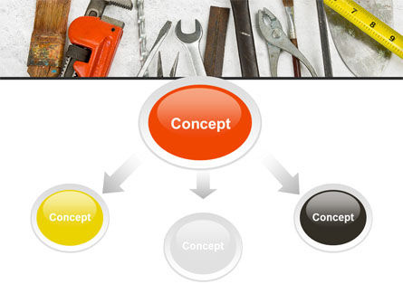 Repairing Tools PowerPoint Template, Slide 4, 08626, Utilities/Industrial — PoweredTemplate.com