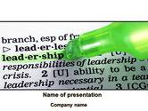 Consulting: Modello PowerPoint - Diritti e le responsabilità di un leader #08628