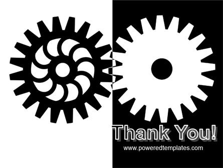 Black And White Gears PowerPoint Template Slide 20