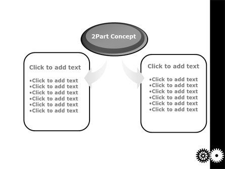 Black And White Gears PowerPoint Template Slide 4