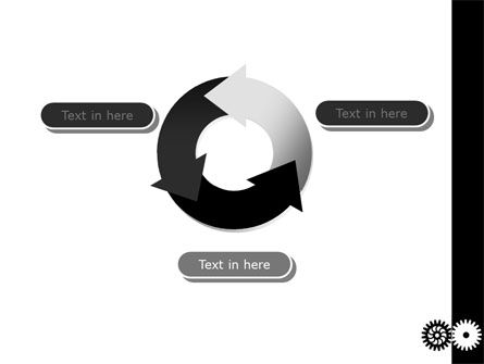 Black And White Gears PowerPoint Template Slide 9