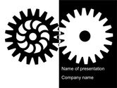 Consulting: Black And White Gears PowerPoint Template #08632