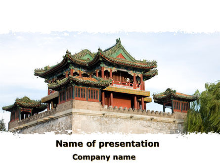 china town free powerpoint template backgrounds 08634