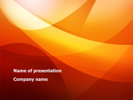 Abstract/Textures: Orange Wave PowerPoint Template #08638
