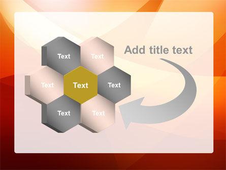 Orange Wave PowerPoint Template Slide 11