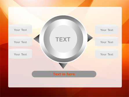 Orange Wave PowerPoint Template Slide 12