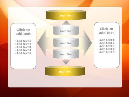 Orange Wave PowerPoint Template Slide 13