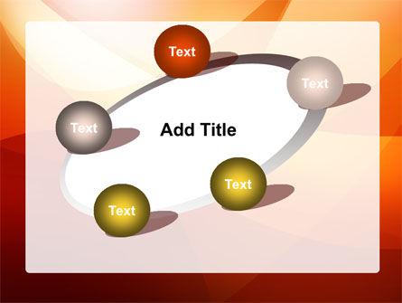 Orange Wave PowerPoint Template Slide 14