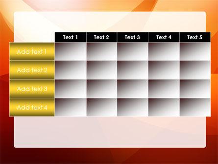 Orange Wave PowerPoint Template Slide 15