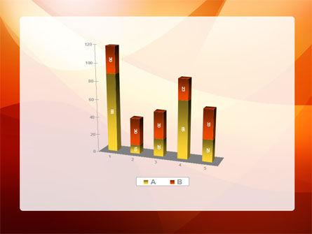 Orange Wave PowerPoint Template Slide 17