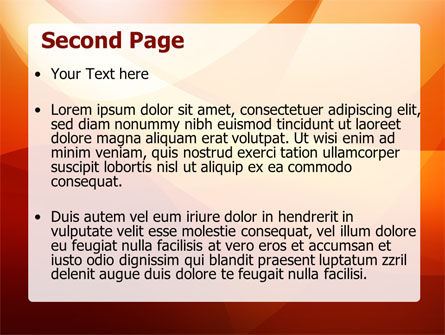 Orange Wave PowerPoint Template Slide 2