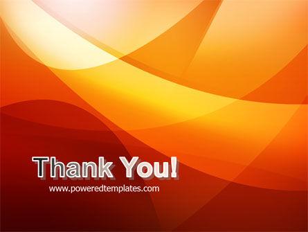 Orange Wave PowerPoint Template Slide 20