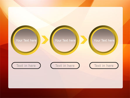 Orange Wave PowerPoint Template Slide 5