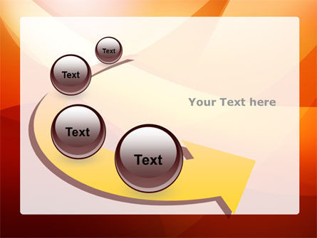 Orange Wave PowerPoint Template Slide 6