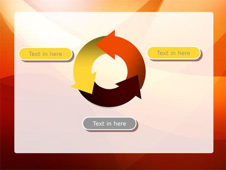 Orange Wave PowerPoint Template Slide 9