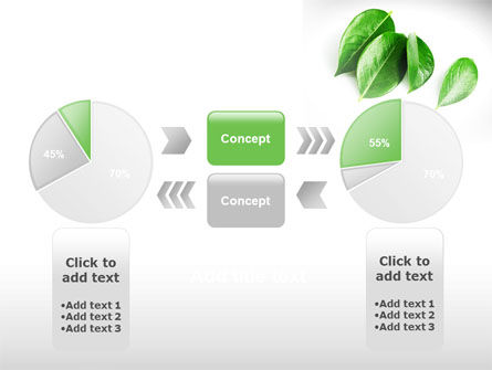 Green Leaves PowerPoint Template Slide 11