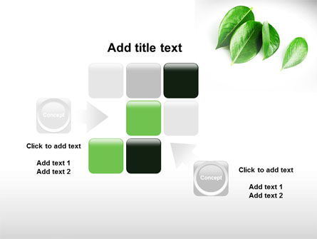 Green Leaves PowerPoint Template Slide 16