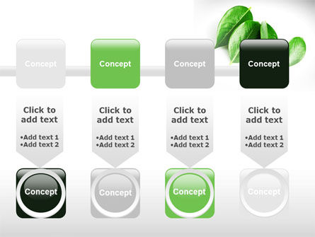 Green Leaves PowerPoint Template Slide 18