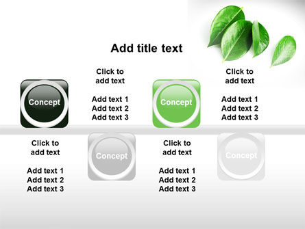 Green Leaves PowerPoint Template Slide 19