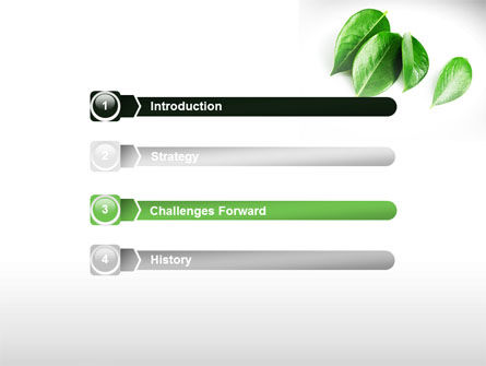 Green Leaves Free PowerPoint Template, Slide 3, 08639, Agriculture — PoweredTemplate.com