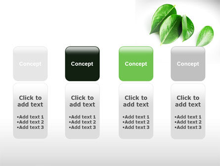Green Leaves PowerPoint Template Slide 5